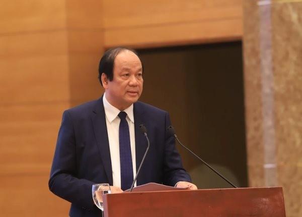 Bộ trưởng, Chủ nhiệm VPCP Mai Tiến Dũng tại buổi họp báo chiều tối 3-3