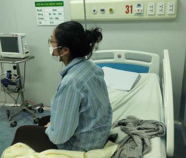 Hình ảnh bệnh nhân N.H.N được Bệnh viện Bệnh Nhiệt đới Trung ương chụp lúc 17h30 chiều nay