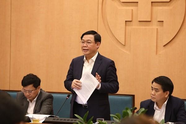 Bí thư Thành ủy Hà Nội Vương Đình Huệ chỉ đạo công tác phòng chống dịch Covid-19