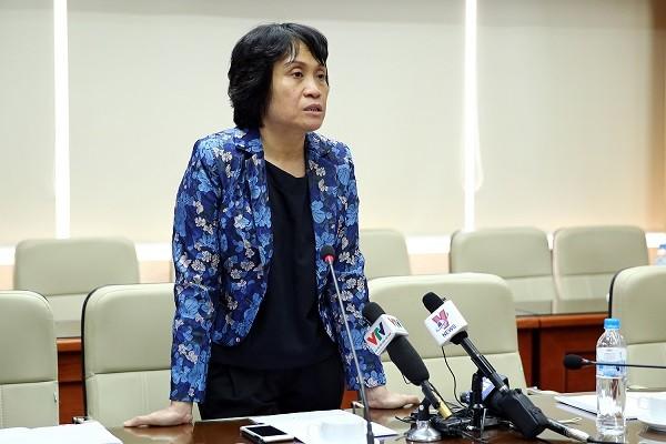 PGS.TS Lê Quỳnh Mai phát biểu tại cuộc họp