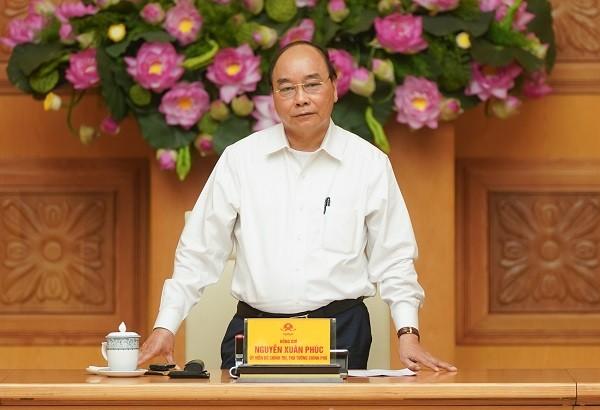 Thủ tướng Nguyễn Xuân Phúc chủ trì cuộc họp (Ảnh: VGP)