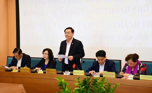 Bí thư Thành ủy Vương Đình Huệ kết luận hội nghị