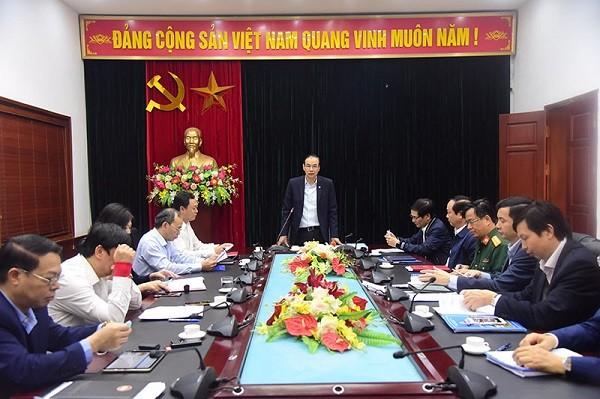 Phó Bí thư Thành ủy Đào Đức Toàn phát biểu tại buổi kiểm tra ở huyện Gia Lâm