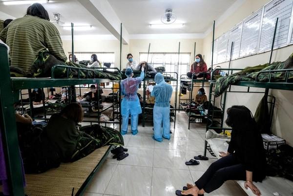 Một khu cách ly tập trung phòng dịch Covid-19 ở Hà Nội