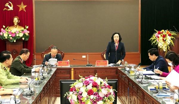 Phó Bí thư Thường trực Thành ủy Ngô Thị Thanh Hằng kết luận buổi kiểm tra