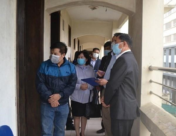 Sở Y tế Hà Nội kiểm tra khu cách ly các chuyên gia Trung Quốc ở khách sạn Sông Nhuệ (quận Hà Đông)