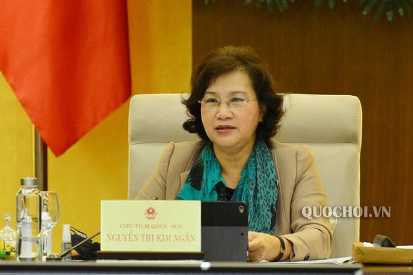 Chủ tịch Quốc hội Nguyễn Thị Kim Ngân phát biểu tại phiên họp (Ảnh: Quochoi)