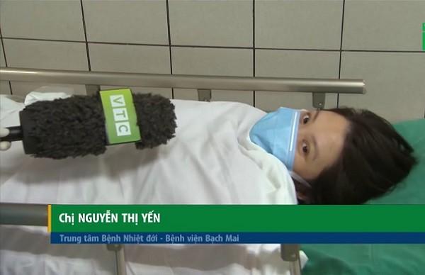 Sản phụ Nguyễn Thị Yến đã khỏe mạnh sau ca mổ đẻ giữa phòng bệnh cách ly