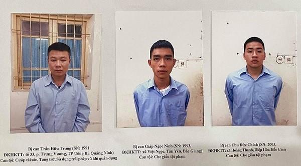 Các đối tượng liên quan đến vụ án bị bắt giữ