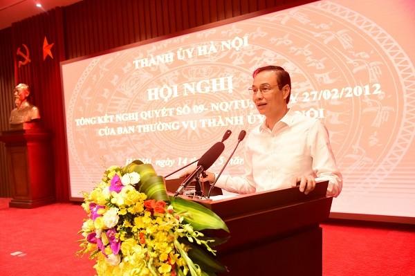 Phó Bí thư Thành ủy Đào Đức Toàn kết luận hội nghị