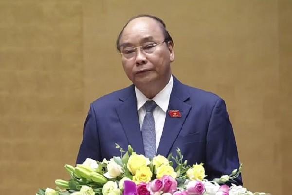 Thủ tướng Nguyễn Xuân Phúc báo cáo trước Quốc hội