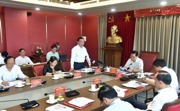 Bộ trưởng Bộ TN&MT Trần Hồng Hà phát biểu