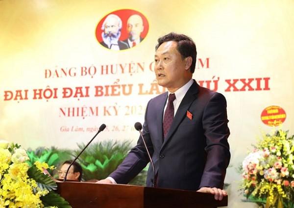 Ông Lê Anh Quân đã được bầu làm Bí thư Huyện ủy Gia Lâm nhiệm kỳ 2020-2025