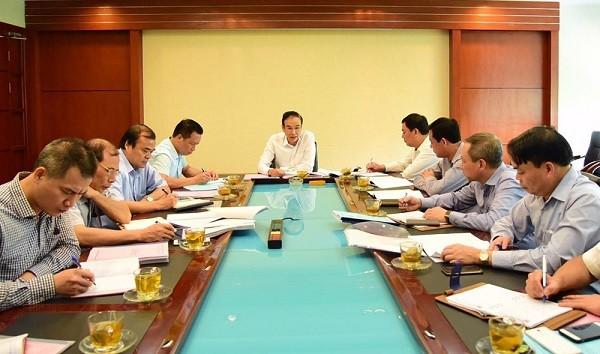 Phó Bí thư Thành ủy Đào Đức Toàn làm việc với Ban Thường vụ Đảng ủy Tổng công ty Xây dựng Hà Nội