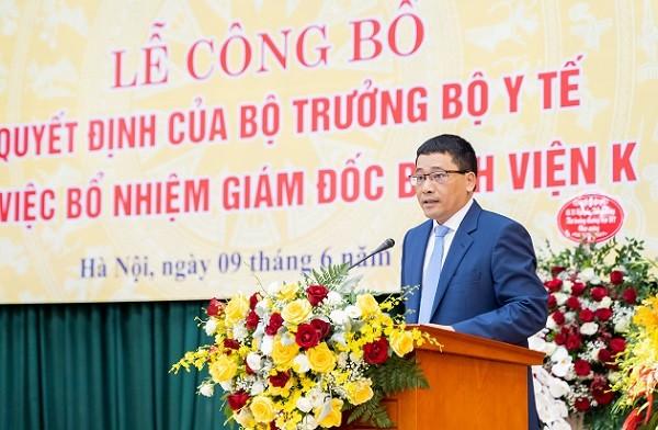 PGS.TS Trần Văn Quảng phát biểu nhận nhiệm vụ