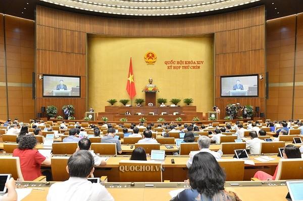 Quốc hội họp về công tác nhân sự dưới sự vào cuối phiên làm việc chiều 10-6