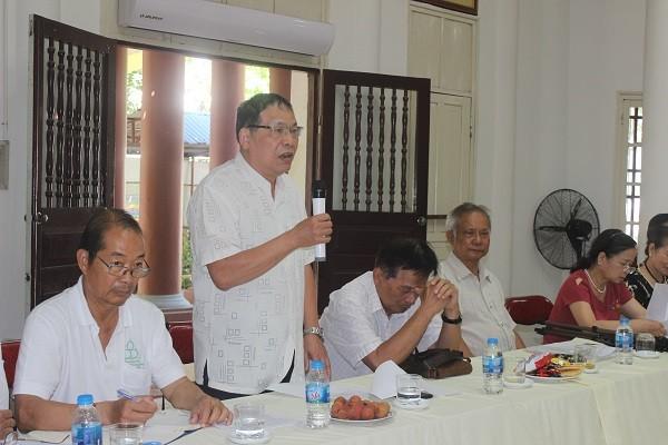 TS Chu Đức Tính góp ý tại hội nghị