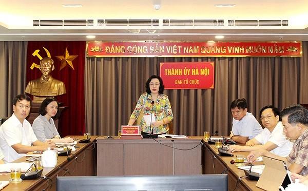 Phó Bí thư Thường trực Thành ủy Ngô Thị Thanh Hằng tham luận tại hội nghị