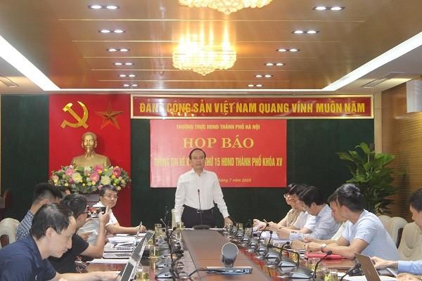 Phó Chủ tịch Thường trực HĐND TP Nguyễn Ngọc Tuấn chủ trì buổi họp báo