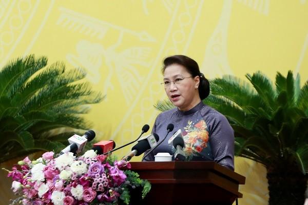 Chủ tịch Quốc hội phát biểu tại kỳ họp