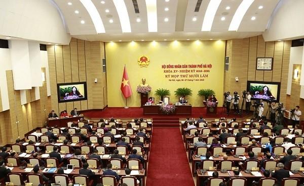 Quang cảnh kỳ họp thứ 15 của HĐND TP