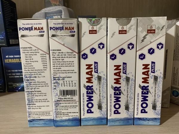 Sản phẩm Powerman Plus được quảng cáo trên mạng