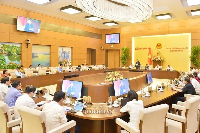 Phiên họp thứ 46 của Ủy ban Thường vụ Quốc hội khai mạc sáng 13-7