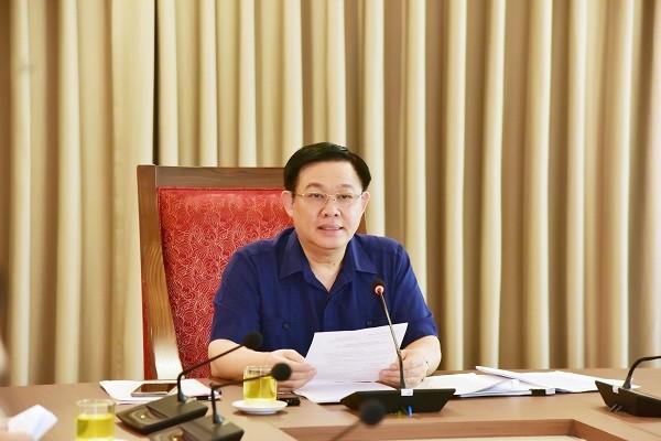 Bí thư Thành ủy phát biểu kết luận cuộc họp