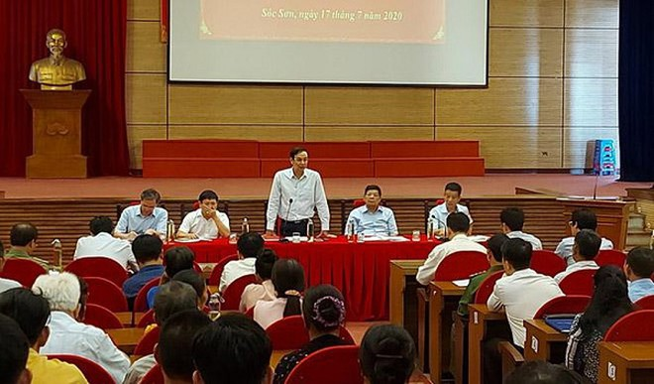 Lãnh đạo thành phố Hà Nội vừa có buổi đối thoại trực tiếp với người dân 2 xã Hồng Kỳ, Nam Sơn