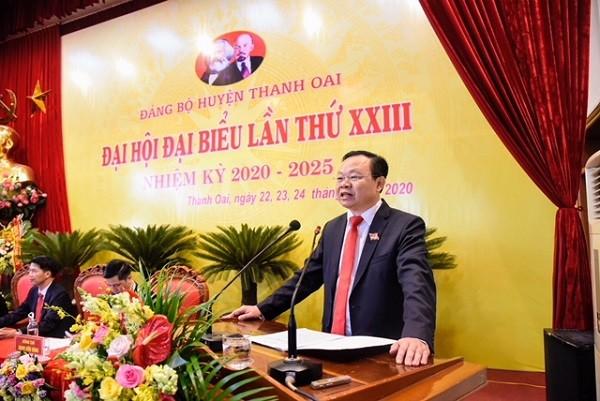 Ông Đinh Trường Thọ phát biểu tại đại hội