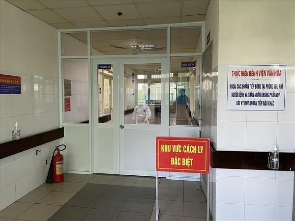 Bệnh nhân T.V.D nghi mắc Covid-19 đang được điều trị trong khu vực cách ly đặc biệt tại Bệnh viện C Đà Nẵng