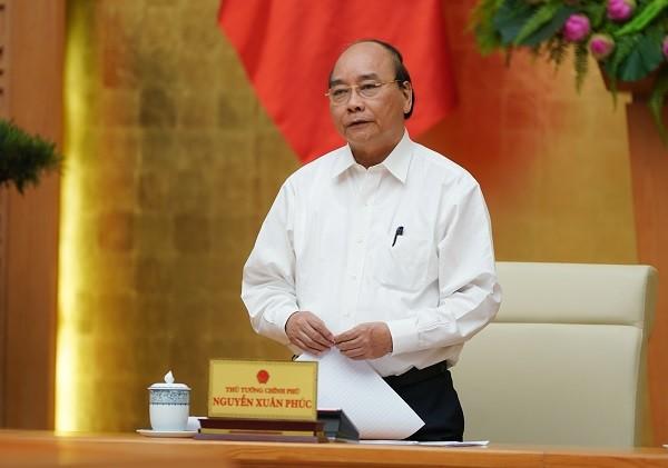 Thủ tướng Nguyễn Xuân Phúc kết luận cuộc họp về dịch Covid-19