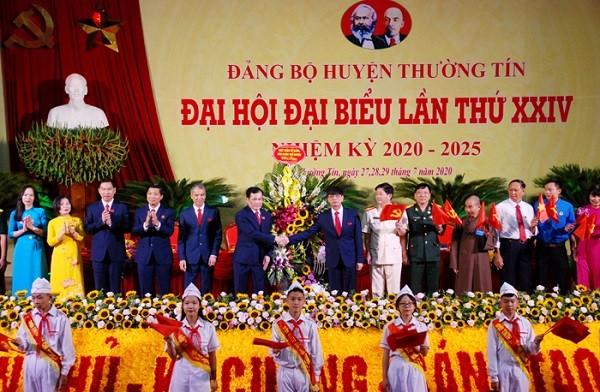 Đại hội đại biểu lần thứ XXIV Đảng bộ huyện Thường Tín bắt đầu phiên làm việc chính thức