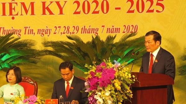 Ông Nguyễn Tiến Minh tiếp tục được bầu làm Bí thư Huyện ủy Thường Tín khóa mới