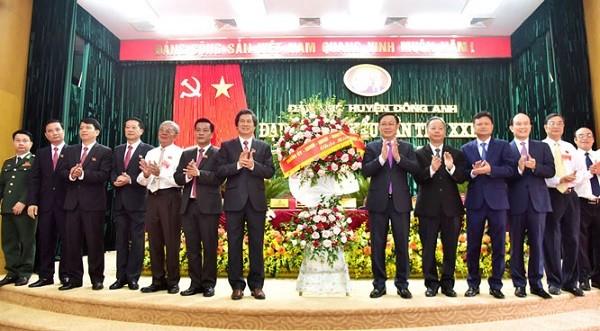 Lãnh đạo thành phố Hà Nội dự đại hội đại biểu huyện Đông Anh lần thứ XXIX