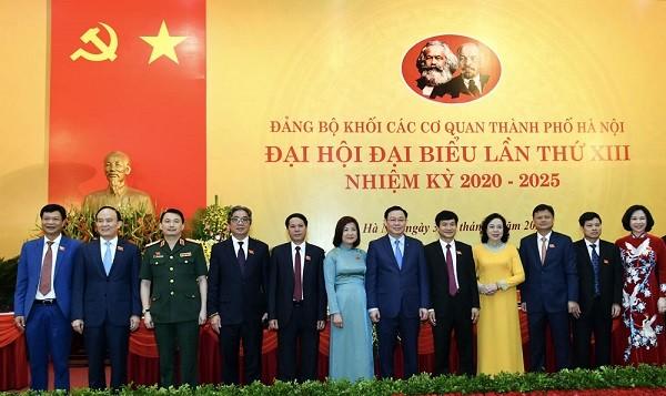 Lãnh đạo thành phố Hà Nội dự đại hội