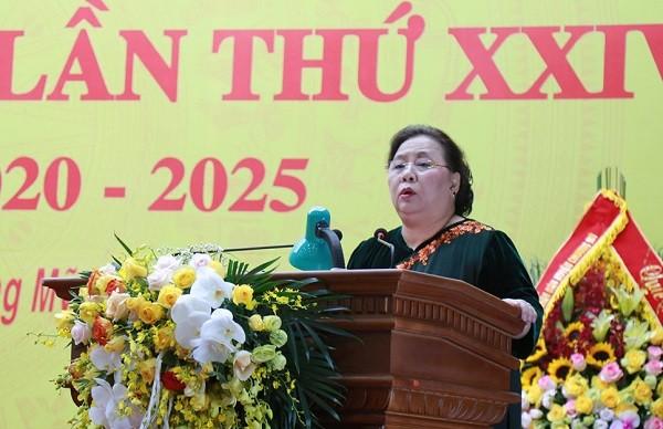 Phó Bí thư Thành ủy, Chủ tịch HĐND TP Nguyễn Thị Bích Ngọc phát biểu chỉ đạo đại hội