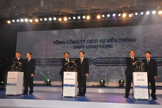 Bộ trưởng Bộ TT-TT Nguyễn Bắc Son dự lễ ra mắt VNPT VinaPhone