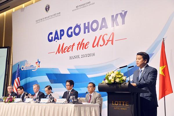 Chủ tịch UBND TP Hà Nội phát biểu khai mạc buổi tọa đàm