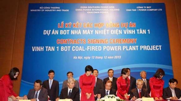 Dự án Nhiệt điện Vĩnh Tân 1 chính thức khởi động năm 2013