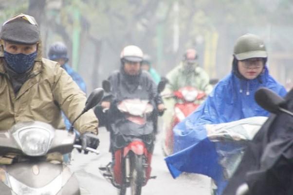 Hà Nội tiếp tục mưa và rét đậm vào đầu tuần tới