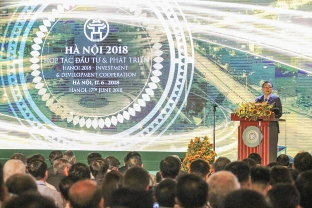 Bí thư Thành ủy Hà Nội Hoàng Trung Hải khẳng định Hà Nội luôn đồng hành cùng doanh nghiệp- Ảnh: Phú Khánh