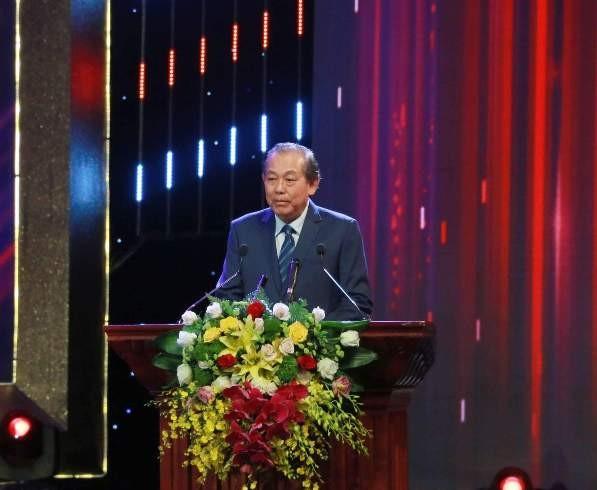 Phó Thủ tướng Thường trực Trương Hòa Bình phát biểu tại lễ trao giải