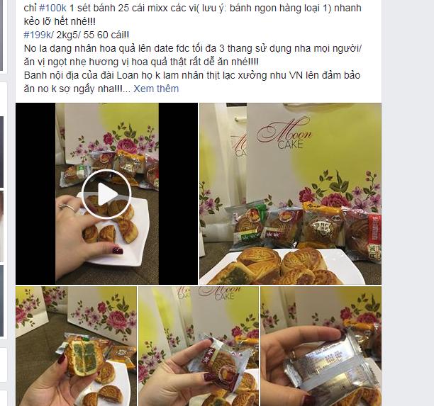 """Bánh trung thu siêu rẻ được rao bán công khai trên """"chợ mạng"""""""