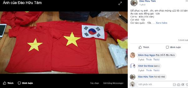 Áo in cờ Việt Nam, băng rôn... được chuyển gấp tới cổ động viên bóng đá