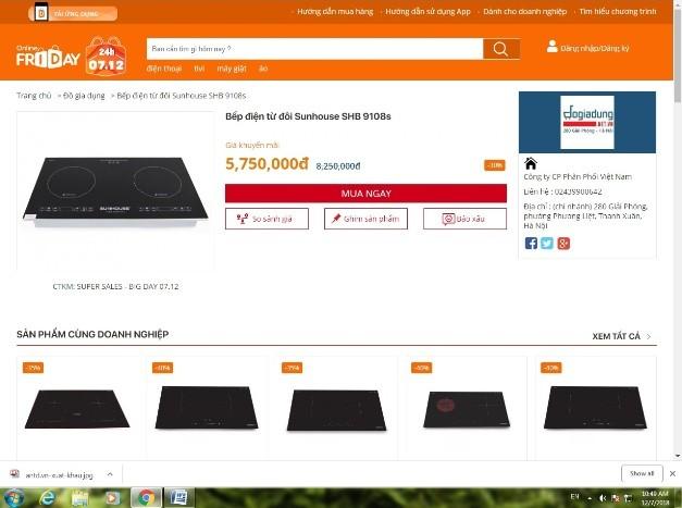 Nhiều sản phẩm tại onlinefriday có mức giảm giá hấp dẫn