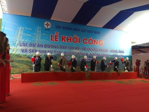 Khởi công 3 đường dây 500kV nhằm đảm bảo cung ứng điện cho miền Nam