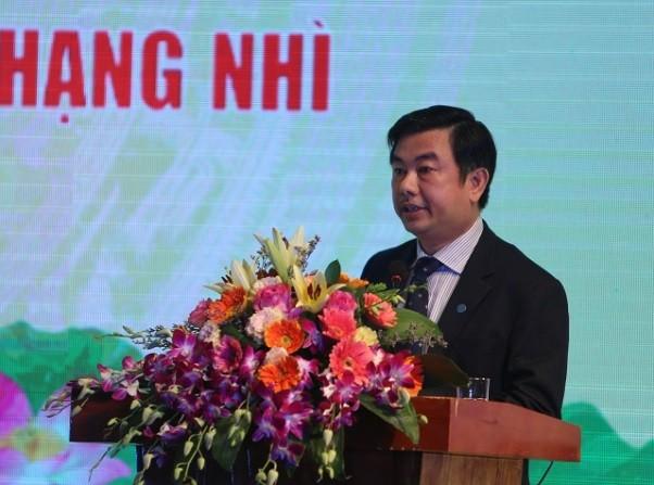 Tổng biên tập Báo Kinh tế & Đô thị Nguyễn Minh Đức phát biểu tại Lễ kỷ niệm
