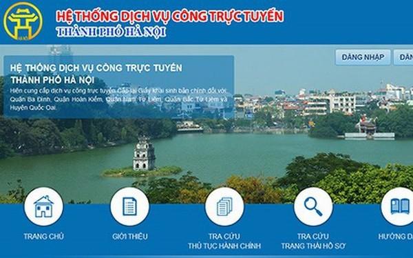 Hà Nội đẩy mạnh dịch vụ công trực tuyến, phục vụ người dân và doanh nghiệp