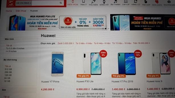 Các nhà bán lẻ ưu đãi nhiều cho khách hàng khi mua điện thoại Huawei